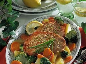 Putenschnitzel mit Möhren-Broccoli-Gemüse Rezept