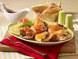 Putenschnitzel mit Spinat Schinken-Füllung Rezept