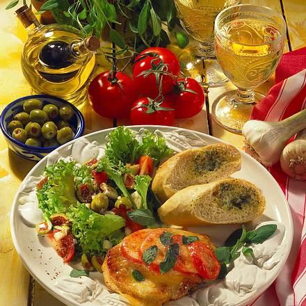 Putenschnitzel mit Tomaten-Mozzarella Rezept