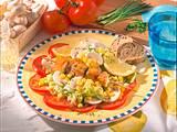 Putenspieß auf Salat Rezept