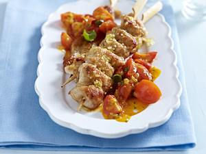 Putenspieße zu Tomaten-Kapern-Soße Rezept