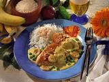 Putensteaks in Bananen-Curry-Creme Rezept