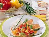 Putensteaks mit Paprika-Gemüse (Diabetiker) Rezept