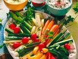 Quark-Dips mit Gemüseplatte Rezept