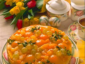 Quark-Früchtekuchen Rezept