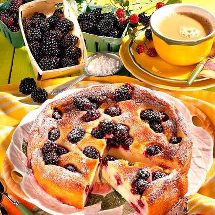 Quark-Grieß-Brombeer-Kuchen Rezept