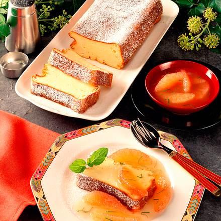 Quark-Grieß-Pastete mit Grapefruit-Kompott Rezept
