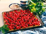 Quark-Himbeer-Blechkuchen Rezept