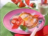 Quarkpfannkuchen mit Nougatsoße und Erdbeeren Rezept