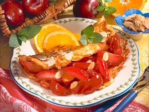Quarkpfannkuchen mit Pflaumen Rezept