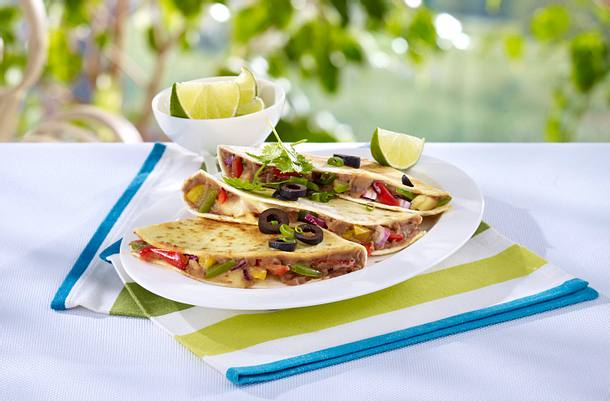 Quesadillas mit Bohnen und Gemüse Rezept