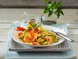 Quinoa-Salat mit Shrimps Rezept