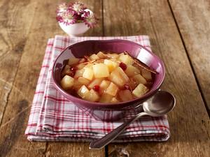 Quitten-Preiselbeer-Kompott Rezept