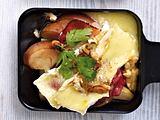 Raclette-Pfännchen Schwarzwälder Schinken mit Birne Rezept