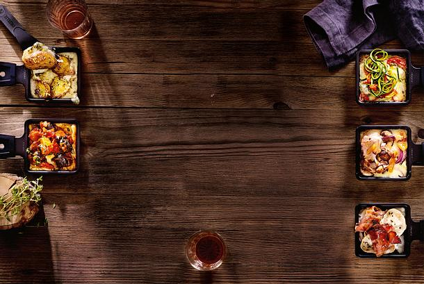 Racletterie: Zucchininudel-Miniauflauf