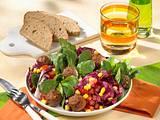 Radicchio-Feldsalat mit Hackbällchen Rezept