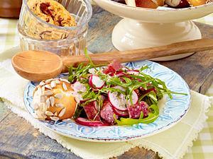 Radieschen-Rucola-Salat mit Landjägern Rezept