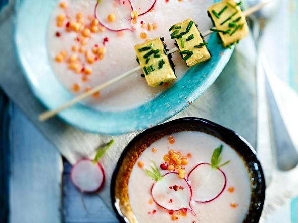Radieschensuppe mit Bärlauchpesto Rezept