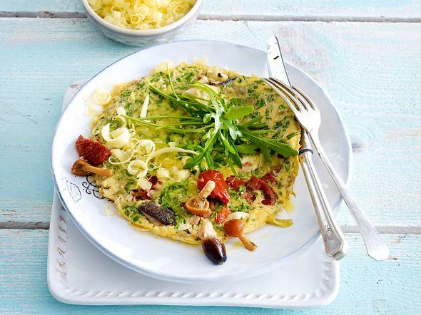 Rauke-Antipasti-Omelett Rezept