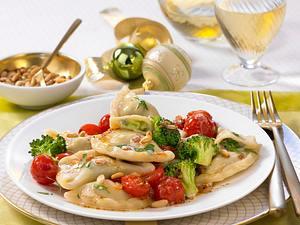 Ravioli mit Broccoli und Gorgonzola Rezept