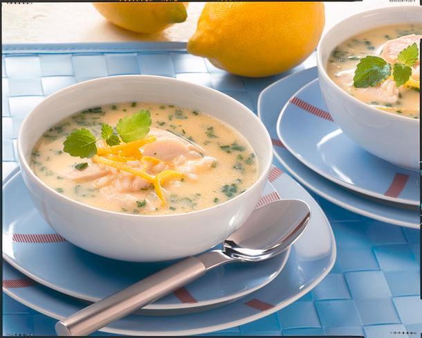 Reis-Hühnersuppe mit Zitrone Rezept