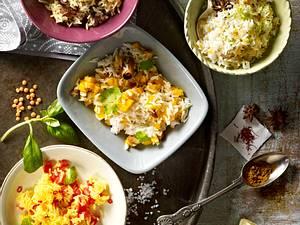 Reis mit Limette, Linsen und Sternanis Rezept