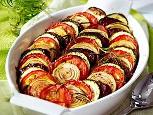 Reisauflauf mit Tomaten, Zucchini und Chorizo Rezept