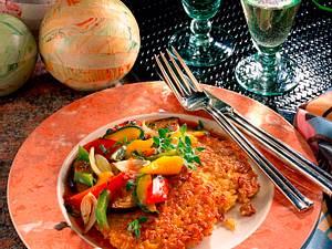 Reisplätzchen mit Ratatouille Rezept
