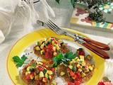 Reispuffer mit Zucchini-Tomaten-Gemüse Rezept