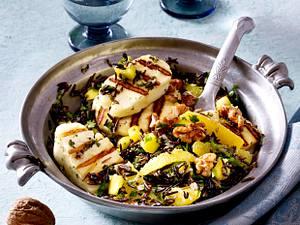 Reissalat mit Halloumi und Walnüssen Rezept