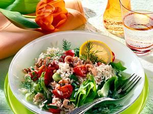 Reissalat mit Krabben Rezept