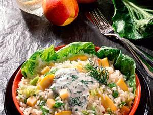 Reissalat mit Nektarinen (fettarm) Rezept