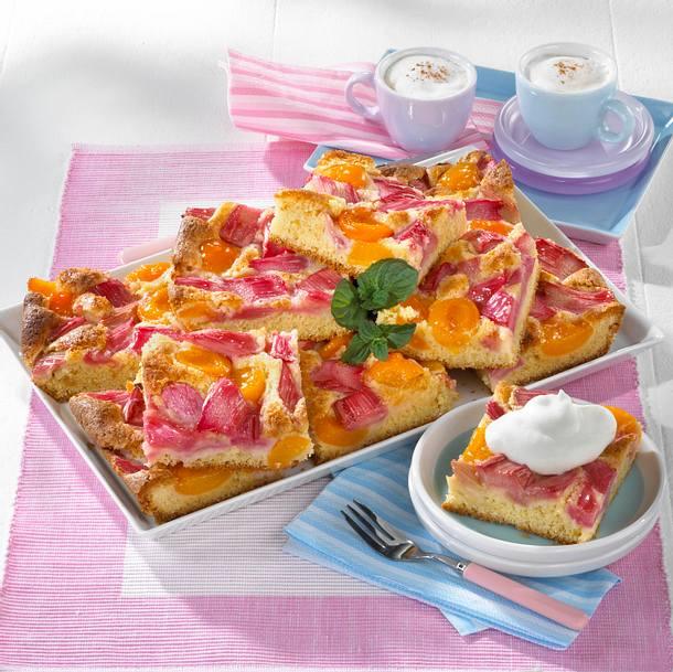 Rhabarber-Aprikosenkuchen (Diabetiker) Rezept
