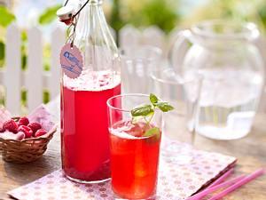 Rhabarber-Himbeer-Sirup Rezept