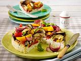 Ricottakuchen mit Kardamom-Gemüse Rezept