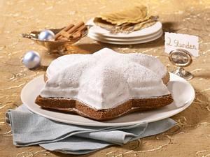 Riesen-Zimtstern (mit Kuchenglasur Zitrone) Rezept