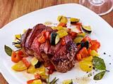 Rinder-Steak mit Pfannengemüse (Diät Mittag) Rezept