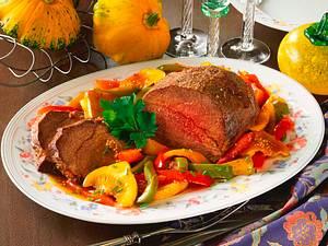Rinderbraten mit karamellisiertem Gemüse Rezept