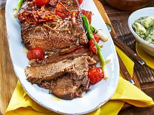Rinderbrust mit Basilikum-Spinat-Gnocchi