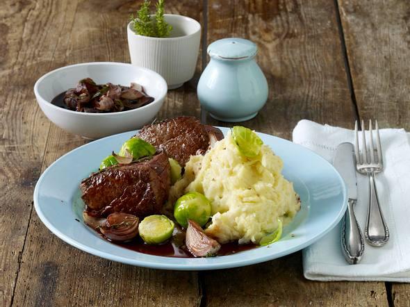 Rinderfilet-Steak mit Selleriepüree Rezept