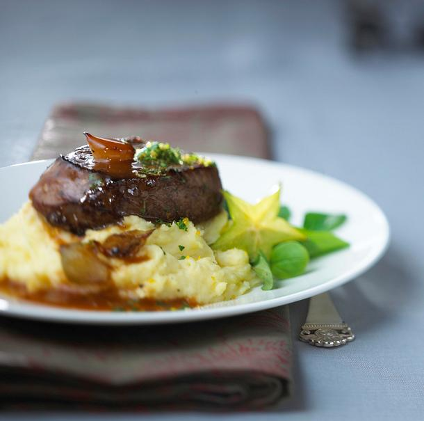 Rinderfiletsteak zu Kartoffel-Sellerie-Püree Rezept