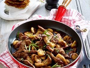 Rindergeschnetzeltes mit Balsamico-Pilzen Rezept