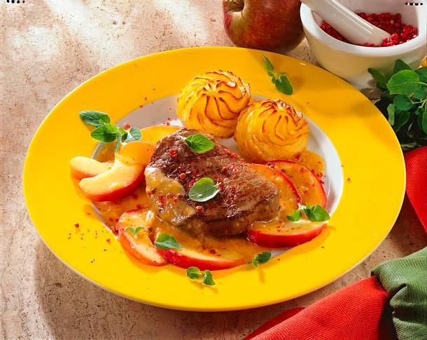 Rindermedaillons in Apfel-Sahne-Soße Rezept