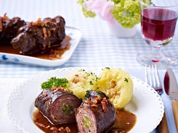 Rinderrouladen mit Thüringer Klößen Rezept