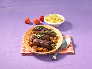 Rinderrouladen zu Rotweinschalotten Rezept