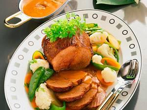 Rinderschmorbraten zu Buttergemüse Rezept