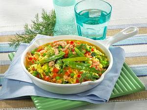 Risi Bisi mit Gemüse und Curry Rezept