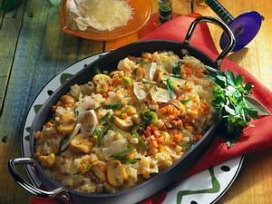 Risotto mit Suppengrün und Parmesankäse Rezept