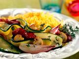 Risotto mit Zucchini-Radicchio-Gemüse Rezept