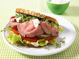Roastbeef-Burger mit leichter Remoulade (Diät) Rezept